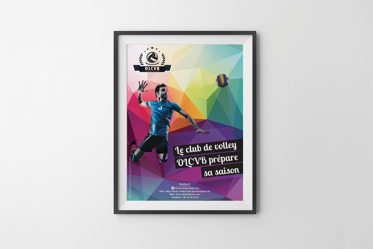 Affiche personnalisée pour le recrutement du club de Volley de Chantilly