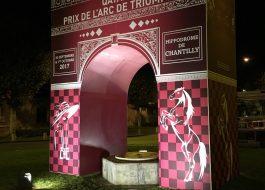 L'Arc de Triomphe imaginé par notre agence de communication pour le Qatar prix à Chantilly